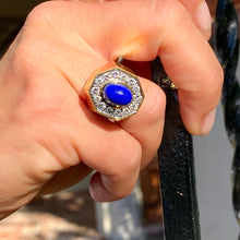 Load image into Gallery viewer, Lapis and Diamond Ring in 18K