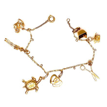 Load image into Gallery viewer, Vintage Charm Bracelet in 18K