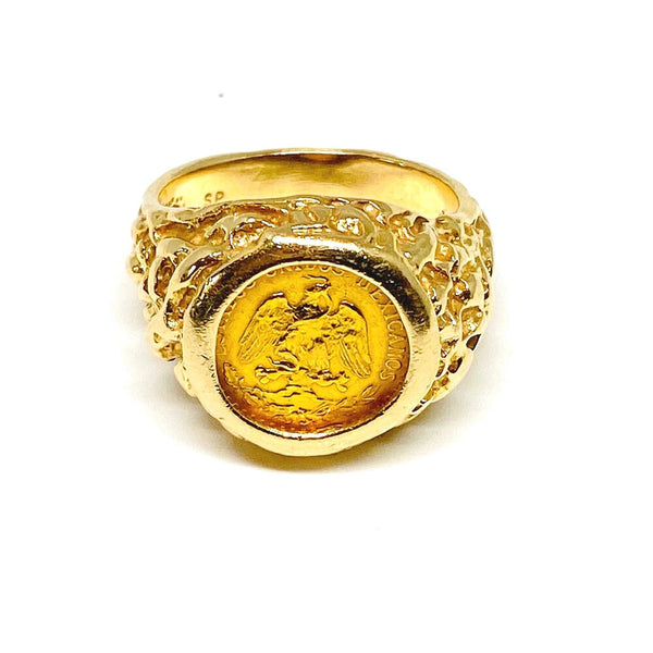 Coin Ring in 14k