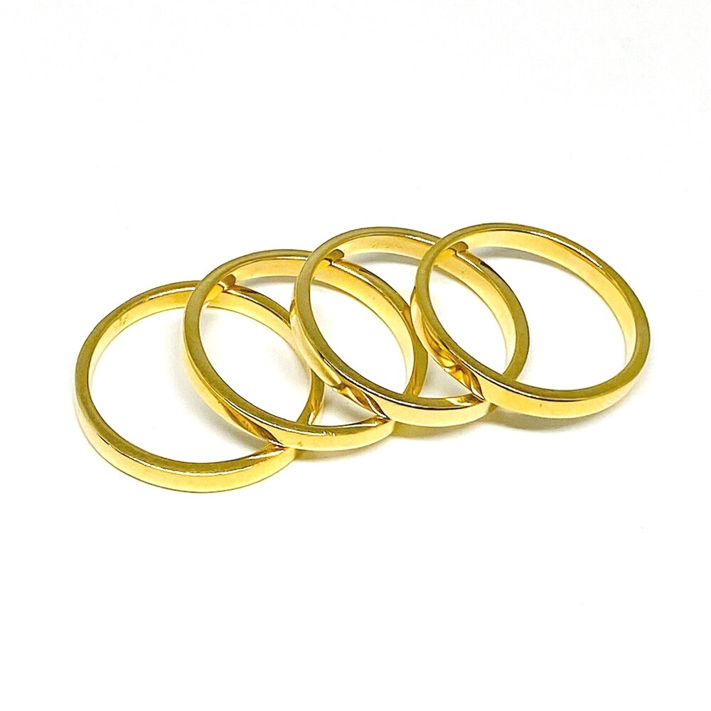 Stack Rings in 18k