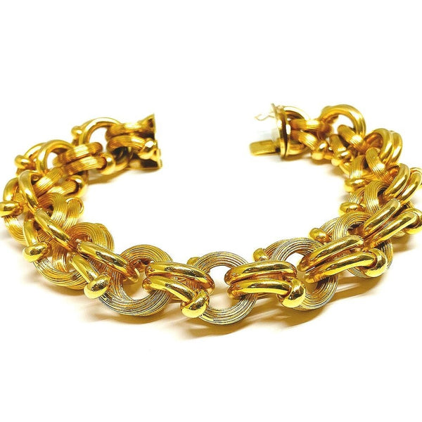 Chunky Double Link Bracelet in 18K