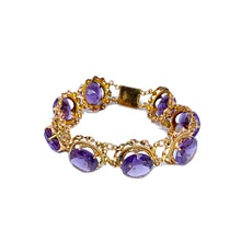 Load image into Gallery viewer, Vintage Synthetic Sapphire Bracelet