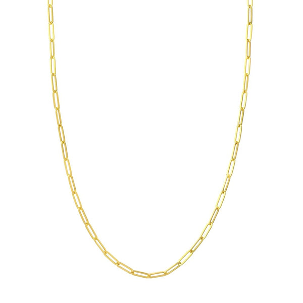 Olivia K Clip Chain Necklace in Solid 14k