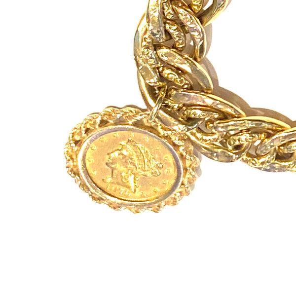 Coin Pendant in 14k