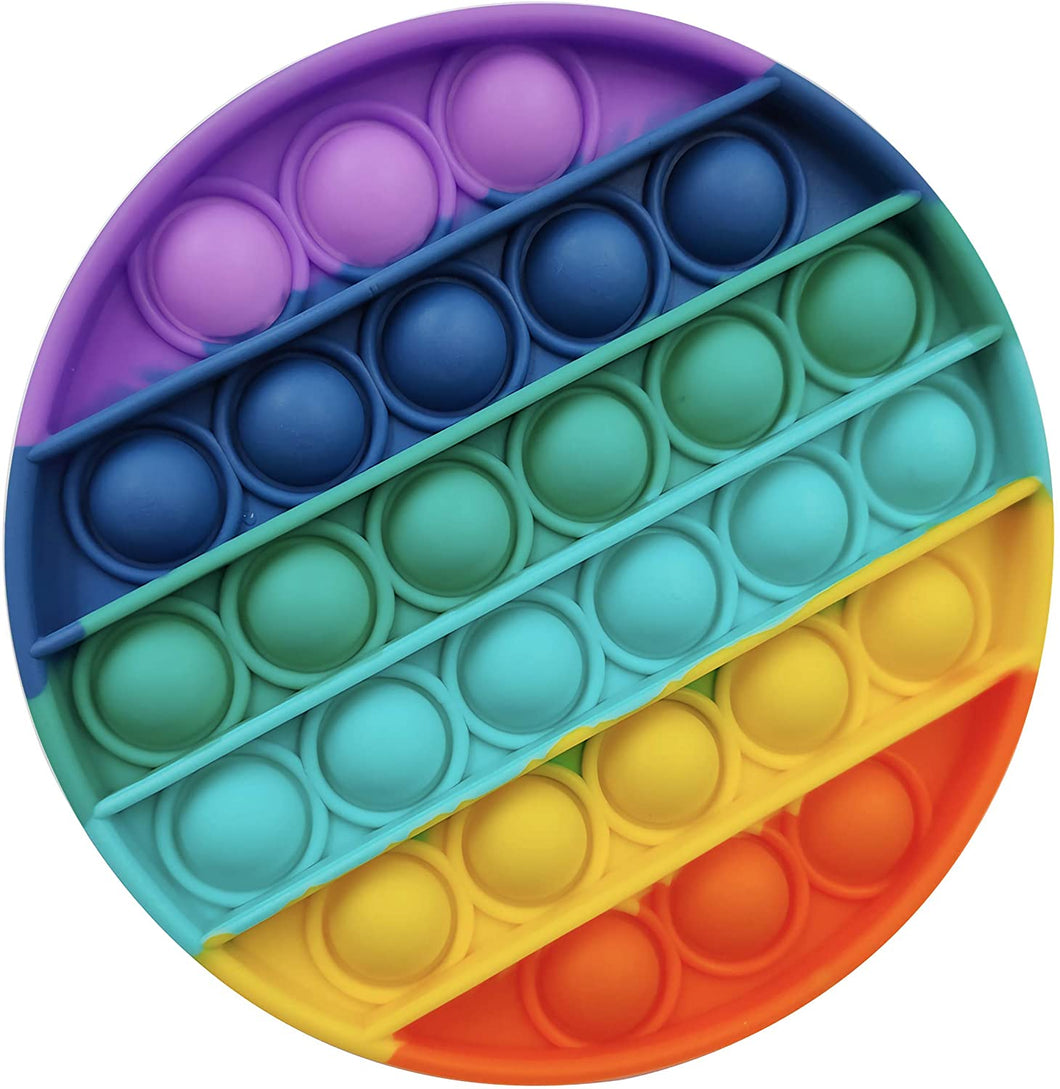 RAINBOW ROUND or SQUARE or OCTAGON POP Sensory Fidget Toy