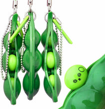 Load image into Gallery viewer, PEA POD POPPER POP Fidget KEY CHAIN Stress Reliever, Quiet, TIKTOK