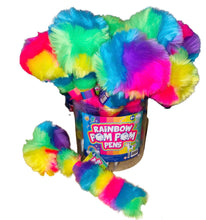 Load image into Gallery viewer, RAINBOW Fluffy Pom Pom Pen