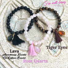 Load image into Gallery viewer, Gelang Batu Alam yoga diffuser tassel