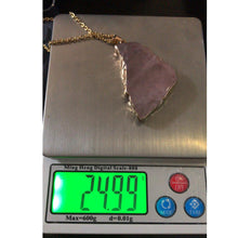 Load image into Gallery viewer, Kalung Batu Alam natural Rose Quartz Flat