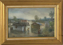 "Load image into Gallery viewer, Jean-Felix Defournoy 10""x16"" The Flood Oil on Canvas Framed #1FC"