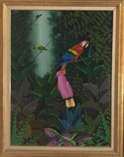 "Load image into Gallery viewer, Jacques Geslin 40""x30"" Love Birds 2003 Oil on Canvas #1FC"