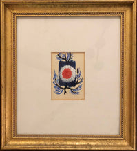 "Load image into Gallery viewer, Luckner Lazard (1928-1998) 7""x5"" The Tree c1960 Oil on Paper Frame 20.5""x18.5"""