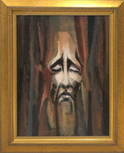 "Load image into Gallery viewer, Bernard Sejourne (1947-1994) 36""x27.25"" The Suffering c1970 Acrylic On Masonite Framed #12FC"
