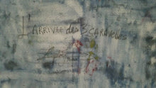 "Load image into Gallery viewer, Frantz Zephirin 20""x24"" ""L'arrivee des Trois Caravelles"" 1995 Acrylic on Canvas #3JN-HA"