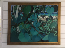 "Load image into Gallery viewer, Bernard Sejourne (1947-1994) 48""x60"" Green By The Beach 1984 Acrylic on Masonite 2409GN-HA"