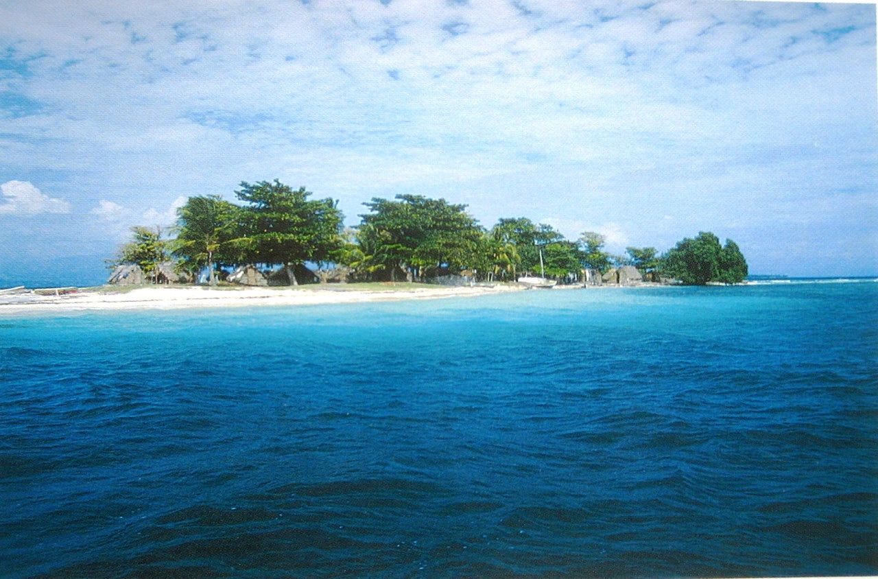Haitian Postcard: Beautiful Island near L'Ile a Vache in the South of Haiti