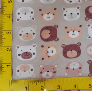 Cotton/Spandex Multi Bears