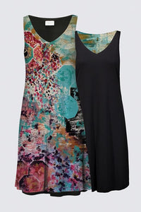 DREAMER Layla Messner V-neck Dress