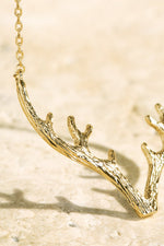 Textured Antler Necklace
