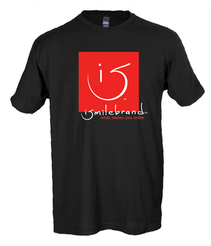 red square ismilebrand t-shirt (available in black or white)