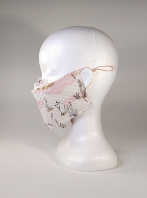 Organic Cotton Quilted Mask - Put a bird on it!