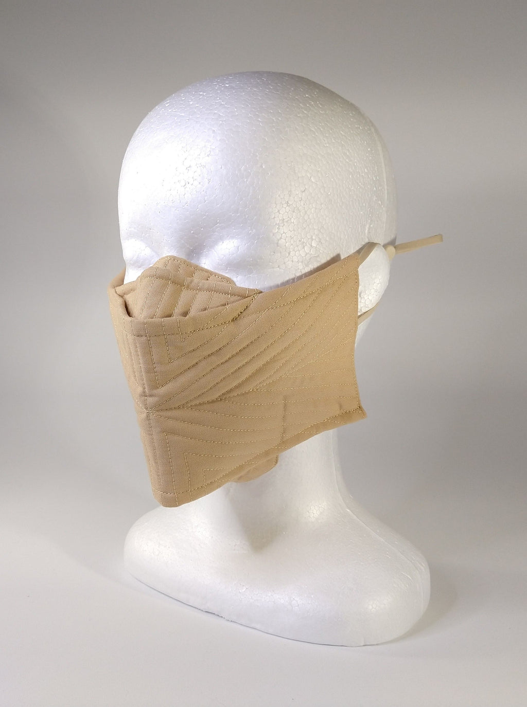 Organic Cotton Quilted Mask - Sand