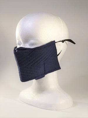 Organic Cotton Quilted Mask - Midnight Blue