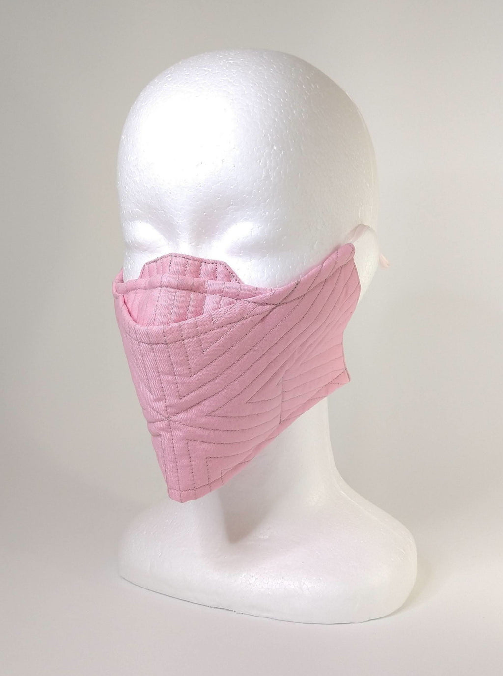 Organic Cotton Quilted Mask - Rose Pink