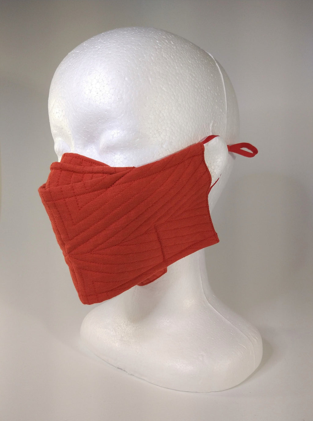 Organic Cotton Quilted Mask - Ruby