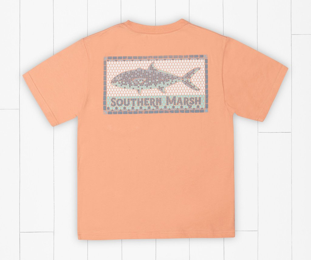 Southern Marsh Youth Tile Fish Tee SS