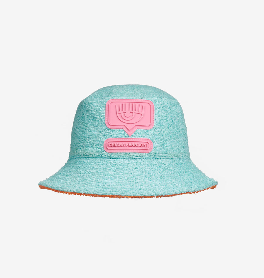 REVERSIBLE EYELIKE BUCKET HAT