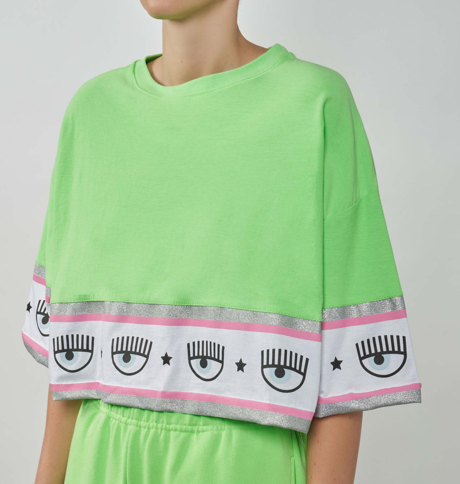 MAXI LOGOMANIA CROP T-SHIRT