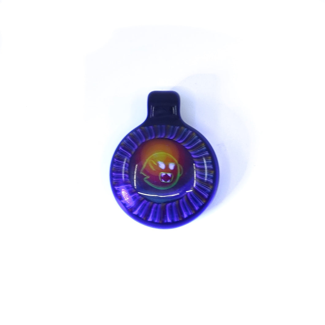 Microworkshop glass pendant UV reactive