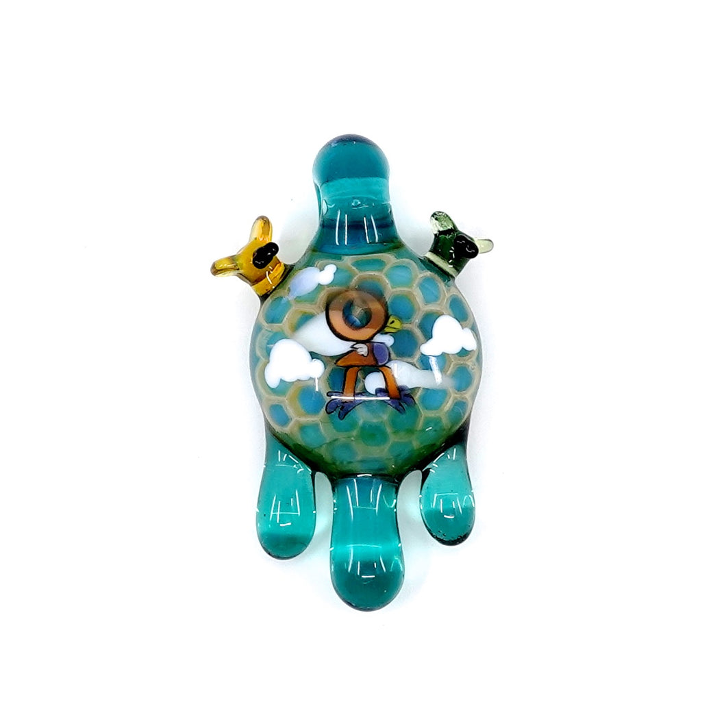 Joep x Calmbo honey bird pendant