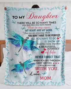 Top # 10 - Dragonfly- Special gift for Daughter Blanket