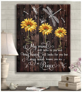 Top # 9 - My Mind Still Talks To You Dragonfly Wall Art Canvas