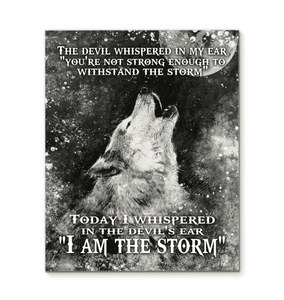Top #5 - CANVAS WOLF I am the Storm