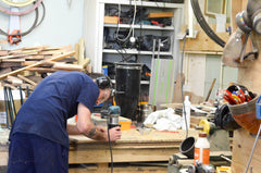 Staff working on product at the DappR Aviation workshop in Suffolk