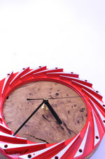 Red Air Distribution Blade Clock