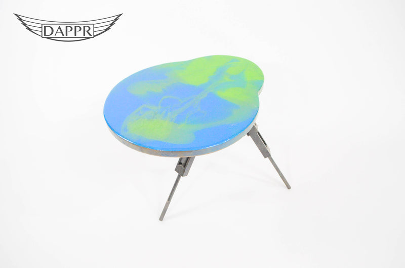 Puma and Tornado Resin Topped Side Table