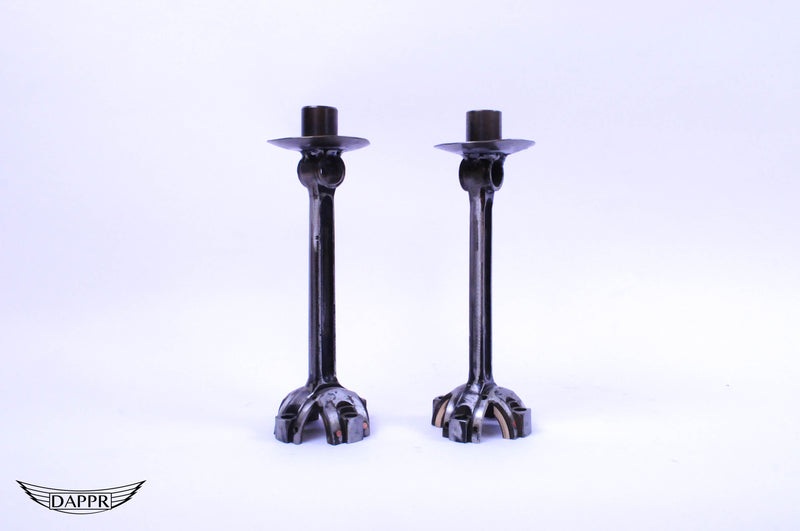 Vintage Car Part Candle Sticks