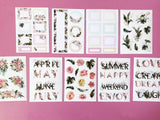 Botanical Florals - 3 Sticker Sheets & 6 Clear Sticker Sheets