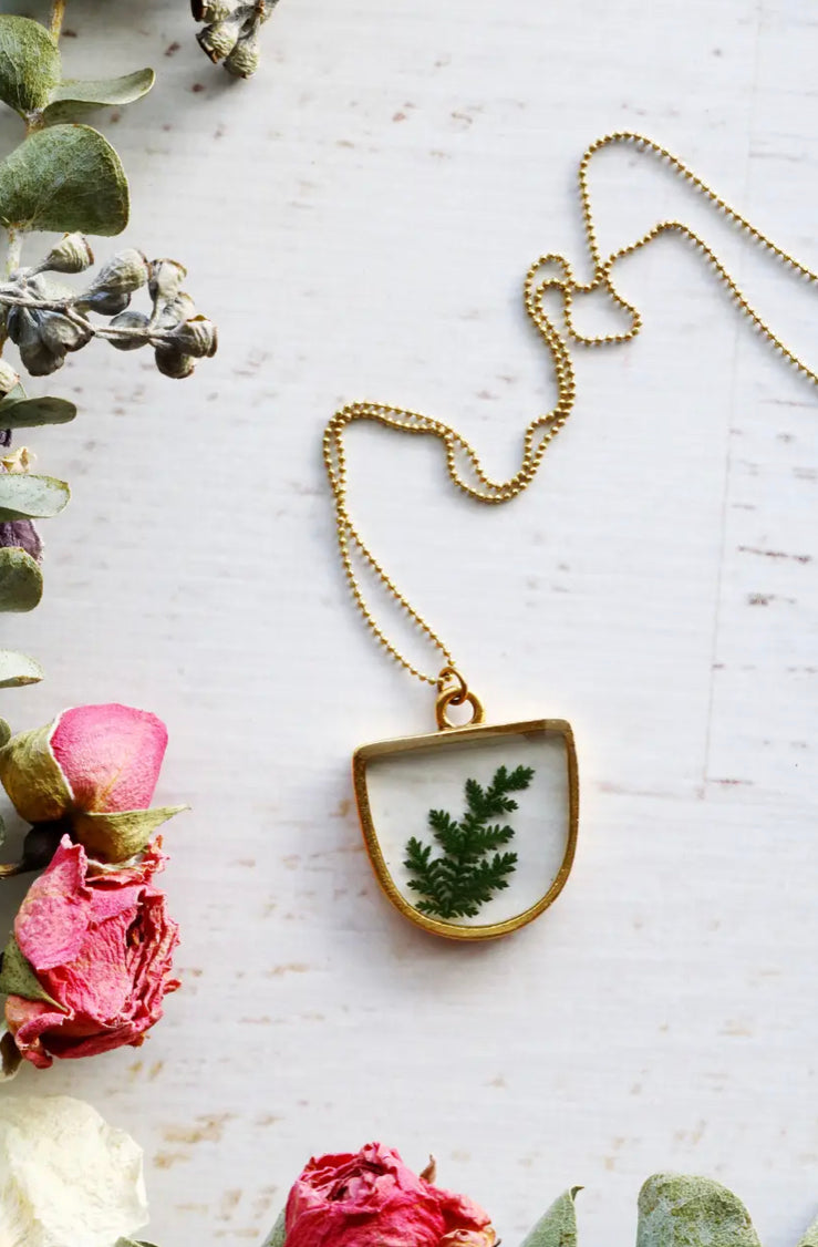 Flora and Forest Jewellery - Half Oval Necklace