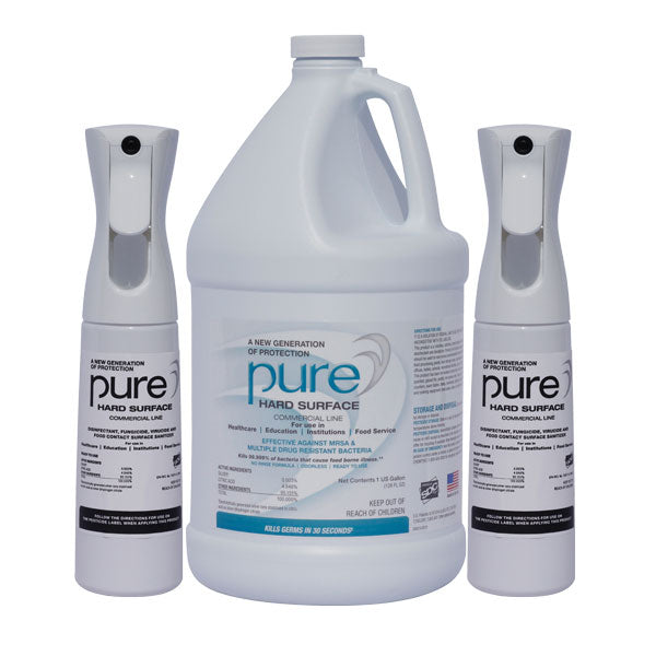 PURE Hard Surface 2 Empty Misting Bottle w/ 1-Gal PHS