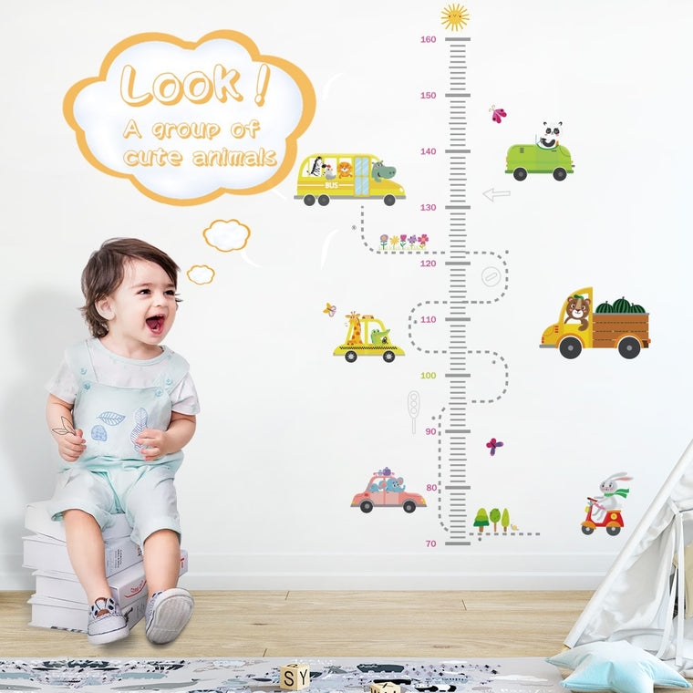 Cartoon Height Measure Wall Sticker
