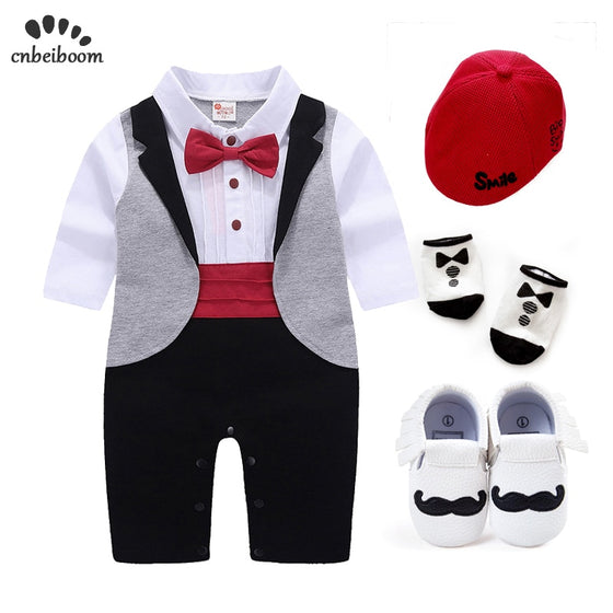Baby Tuxedo sets rompers clothing set