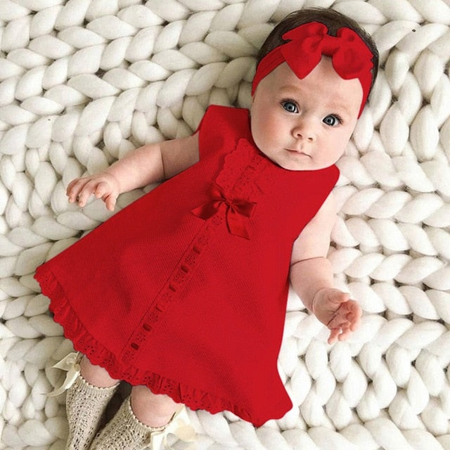 Casual Maxi Bow Dress+Headband Set