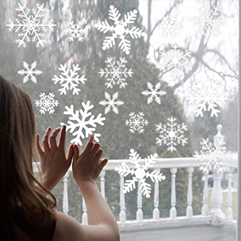 snowflake electrostatic Sticker