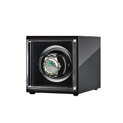 ic: Single Watch Winder in Carbon Fibre by Aevitas