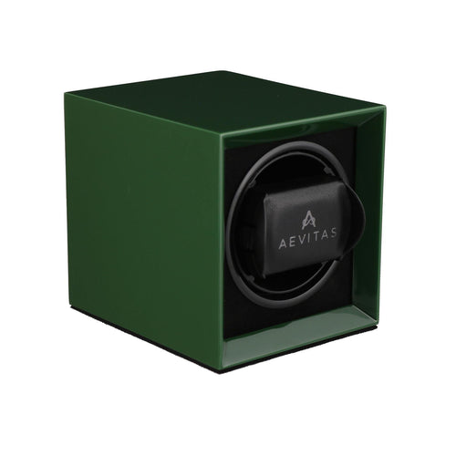 Watch Winder for 1 Automatic Watch in Green Mains or Battery by Aevitas